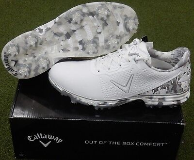 NEW Callaway Fairways for Warriors Coronado Golf Shoes White Camo 8.5  Medium (D) b59e708c93c