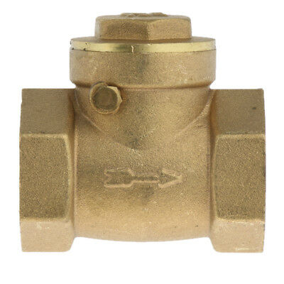 DN20 One Way Swing Check Valve, Female Thread, Brass Material, 3/4 inch