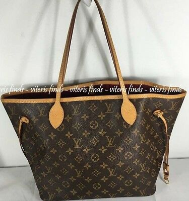 7a8a3d37cf7b Authentic Louis Vuitton Neverfull MM Monogram Canvas Fuchsia Shoulder Tote  Bag
