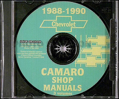 Chevrolet 1988 Camaro Wiring Diagrams Manufacturers Workshop Manual 16 00 Picclick Uk