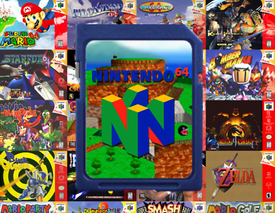 Nintendo 64 SD Card **Complete N64 Library** (Every Game + Emulator)