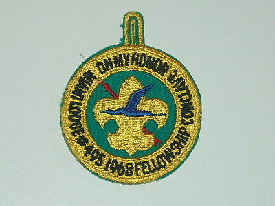 OA lodge 495 1968 fellowship conclave patch