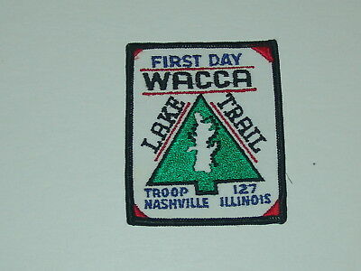 trail patch - Wacca Lake Trail - First Day - Troop 127 Nashville Illinois
