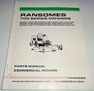 RANSOMES M48 M36 M32 Commercial Mower Technical/Operator/Part Manual