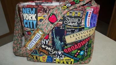 New York Subway Map Leather Taxi Wallet.New York City Graffiti Fabric Collage Art Handbag Purse Nyc Subway Quilted Bronx