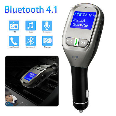 G11 Wireless Bluetooth Car FM Transmitter Hands-free MP3 Player Dual USB Charger
