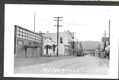 Meaderville Montana, Main Street, 1920's RPPC Postcard