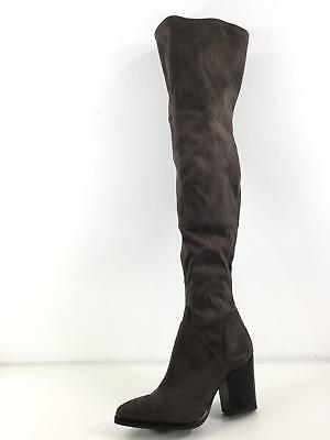 ac7180fce2b  230 MARC FISHER Alinda Over The Knee Gray Stretch Boots Women 5 M ...