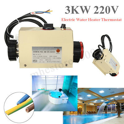 220V 3KW Swimming Pool & SPA Hot Tub Electric Water Heater Thermostat