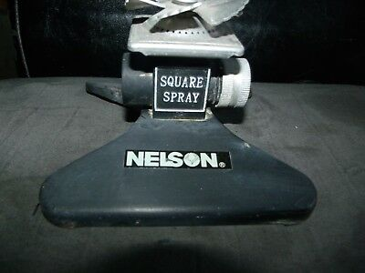 Nelson Square Spray It Gets The Corners Lawn Water Sprinkler Head Metal Vintage