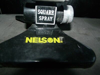 Nelson Square Spray It Gets The Corners Lawn Sprinkler Head Metal Vintage # 2