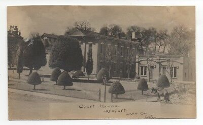 1910 RPPC Postcard of the Court House at Lakeport Clear Lake CA