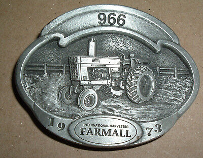 International Harvester IH Farmall 966 Tractor Belt Buckle SpecCast 471 of 1000