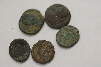 Ancient Roman Imperial 5 Old Coins Lot A98 Xp43