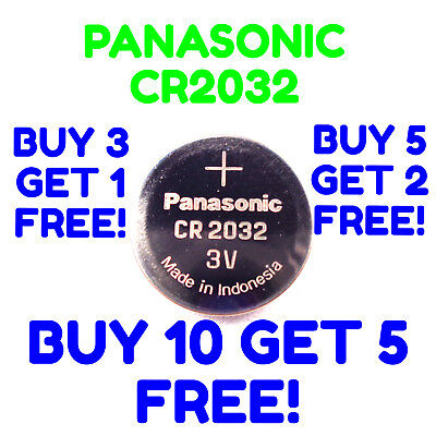 Panasonic CR2032 Battery 3V EXP 2027 Coin Lithium CR 2032 Button Batteries Cell