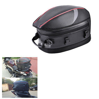 Bike Scooter Motorcycle Travel Sport Rear Bench Tail Bags Back Seat Bags 16-21L