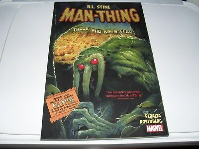 Man Thing THOSE WHO  KNOW  FEAR   SOFT COVER NEW