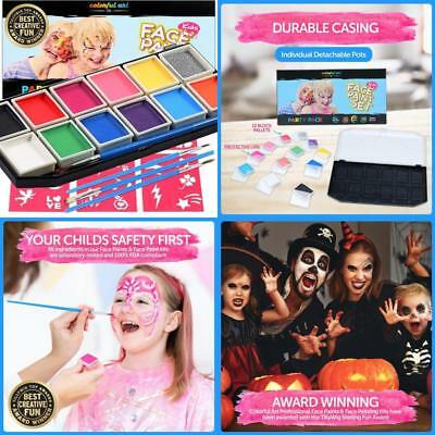 Face Paint Kit Kids Paints Over Faces Professional Award Winning Fun Creative