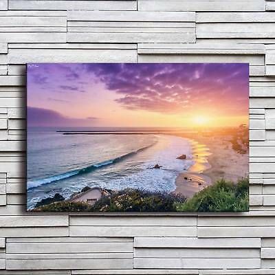 The Seaside Scenery Painting HD Print on Canvas Home Decor Room Wall Art Picture