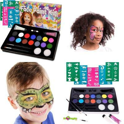 Bo Buggles Kids Face Paint Kit Stencils.Super Buggly Creative Halloween Art