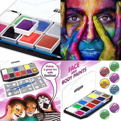Face Painting Kit including Brushes Glitter Halloween Creative Art Fun Parties