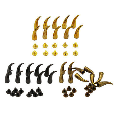 10 Set Metal Bag Studs Cone Punk Spike Rivet Screw Bullet Shape Leathercraft