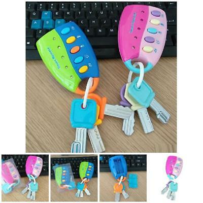 Cartoon Baby Kids Musical Smart Remote Car Key Toys Car Voices Pretend Play Toy