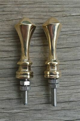 A pair of superb quality antique brass furniture clock finials finial Z10