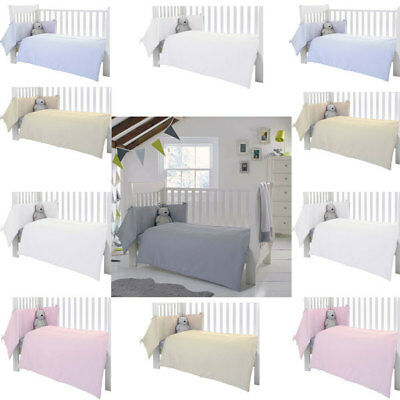 Clair de Lune Waffle 2 Piece Cot/Cot Bed Quilt & Bumper Bedding Set