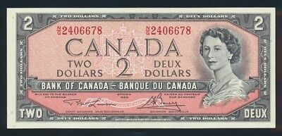 "Canada: 1973 $2 MODIFIED ""QEII PORTRAIT"" Sig. Lawson-Bouey. Pick 76d AUNC"