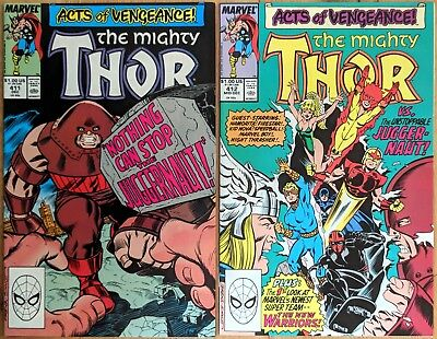 Thor 411 412 (1st FIRST CAMEO & FULL APPEARANCE OF NEW WARRIORS) Ron Frenz