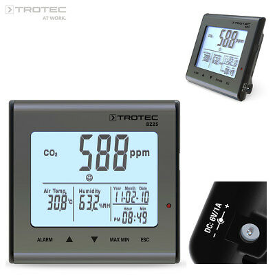 TROTEC BZ25 CO2 Air Quality Monitoring Device, Carbon dioxide meter
