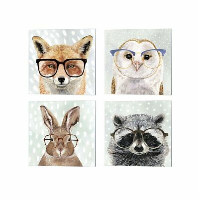 Victoria Borges 'Four-eyed Forester' Canvas Art (Set of 4)