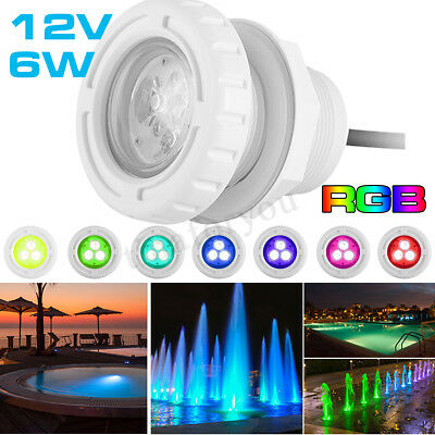 Swimming Pool LED SPA Light RGB Bright Different 7 Colours Underwater AC12V 6W