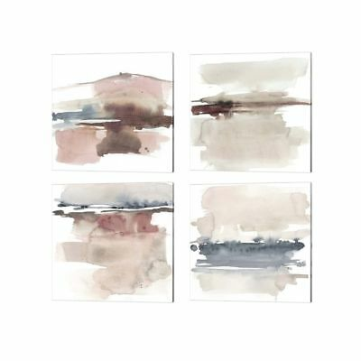 Jennifer Goldberger 'Earth Horizon A' Canvas Art (Set of 4)