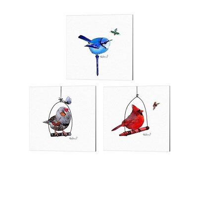Steve Klinkel 'Bird' Canvas Art (Set of 3)