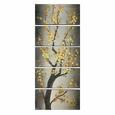 Forever Blooms Transitional 5-piece Wall Art Set - Black/Grey