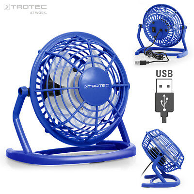 TROTEC Ventilateur de table USB bleu atlantique TVE 1B