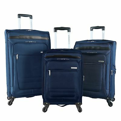 Travelers Club Voyager II 3 Piece Top Durable Expandable Spinner Luggage Set
