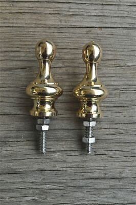 A pair superb quality antique brass furniture clock finial vase shape finial Z15