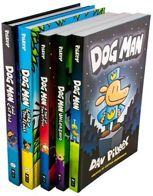 Dog Man 5 Book Collection Dav Pilkey Unleashed, A Tale of Two Kitties, Lord of t