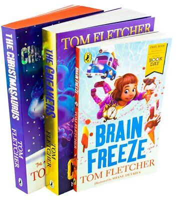 Tom Fletcher 3 Book Collection The Creakers, The Christmasaurus, Brain Freeze (W
