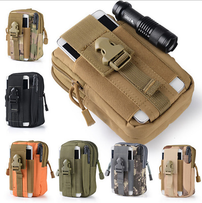 Tactical Molle Pouch Belt Waist Pack Bags Military Waist Fanny Pack Phone Pocket