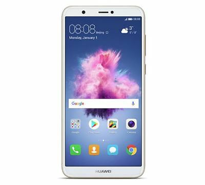 """Huawei P Smart 5.65"""" Smartphone 32GB 13MP Android 8.0 Gold Unlocked Sim Free"""