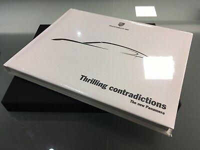 Porsche Panamera brochure coffee table book 'Thrilling Contradictions' rare