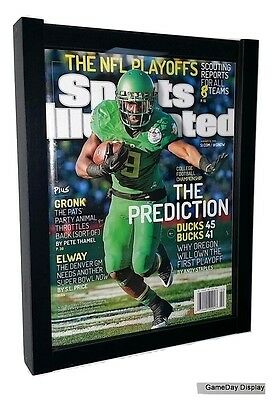 Lot of 2 Sports Illustrated Magazine Frames Current Issues by GameDay Display