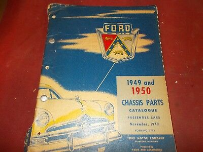 Dated 11/49 An Original 1949-50 Ford Chassis Parts Catalog!!