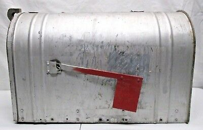 Vintage Milcor Steel Mailbox US Mail Large Galvanized Old Heavy Rustic Farm Road