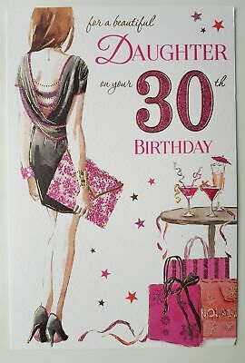 30th Birthday Card For Daughter With Lovely Verse