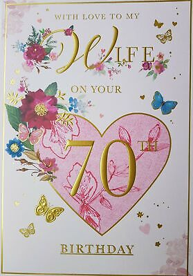 With Love to My Wife On Your 70th Birthday Card